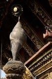 Conca, dettaglio del tempio - uno di otto simboli sacri buddisti Fotografie Stock Libere da Diritti