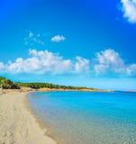 Conca Verde海滩在一个清楚的夏日 库存照片