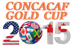 CONCACAF 2015 Golden Cup concept. Isolated on white background Stock Image