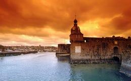 concarneau老城市 库存图片