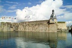 Concarneau in Bretagne Stock Afbeelding