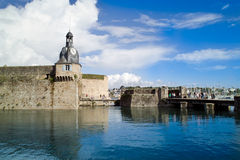 Concarneau in  brittany. City of concarneau in  brittany Royalty Free Stock Image