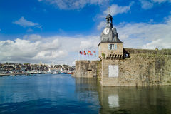 Concarneau in brittany. City of concarneau in brittany Stock Photography
