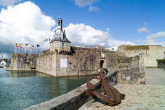 Concarneau in brittany. Harbor of concarneau in brittany Royalty Free Stock Photography