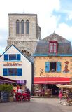 Landscapes and architectures of Brittany. Concarneau, France - August 10, 2017: The architectures of Ville Close medieval village Stock Images