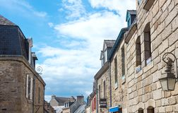 Landscapes and architectures of Brittany. Concarneau, France - August 10, 2017: The architectures of Ville Close medieval village Stock Photos