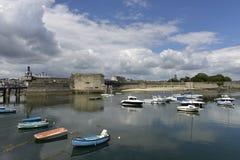 Concarneau Ville Close, Brittany, Frankrike Arkivfoto