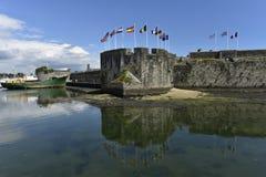 Concarneau, Ville zakończenie, Brittany, Francja Zdjęcia Stock
