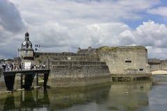Concarneau, Ville zakończenie, Brittany, Francja Obraz Stock
