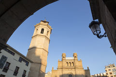 Concatedral de Castellón and the bell tower known as the Fadri. Royalty Free Stock Photography