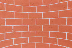 Concave brick wall Stock Images