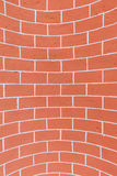 Concave brick wall Royalty Free Stock Photo