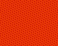Concave hexagons kaleidoscope red pattern Stock Images