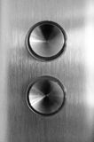 Concave Metal Buttons Royalty Free Stock Photography