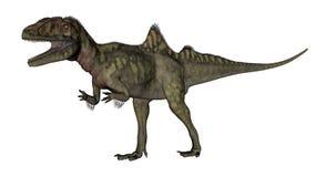Concavenator dinosaurie som vrålar - 3D framför vektor illustrationer