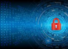 Conce cyber di segretezza di tecnologia di affari di protezione dei dati di sicurezza illustrazione vettoriale