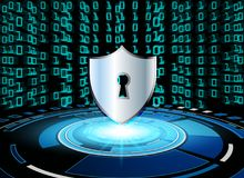 Conce för avskildhet för teknologi för affär för skydd för Cybersäkerhetsdata Arkivfoto