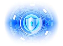 Conce för avskildhet för teknologi för affär för skydd för Cybersäkerhetsdata Royaltyfria Foton