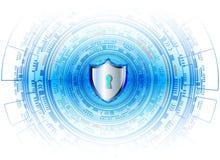 Conce för avskildhet för teknologi för affär för skydd för Cybersäkerhetsdata Royaltyfria Bilder
