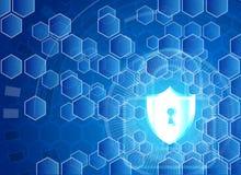 Conce för avskildhet för teknologi för affär för skydd för Cybersäkerhetsdata Royaltyfri Bild