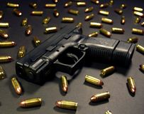 Concealable Sub-Compact Gun Royalty Free Stock Images