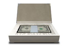Concealed Cash In A Book Front Royalty Free Stock Image