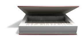 Concealed Cavity In A Book Front. A red hardback book with an empty cut away cavity in the pages for concealing something on an isolated background Royalty Free Stock Image