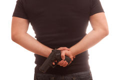 Concealed gun Stock Photos