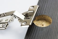 Concealed Hinge stock photo