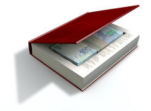 Concealed Rand Notes In A Book Front Stock Image