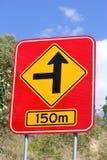 Concealed Road Warning Side 150m 2 Stock Images