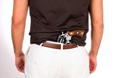 Concealed Weapon Royalty Free Stock Photography