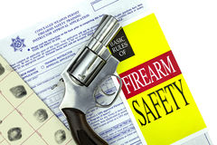 Concealed Weapon Permit Application with Gun Stock Photos