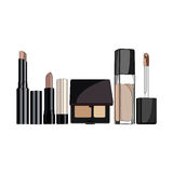 Concealer cosmetic. Set of cosmetic concealer. vector illustration for promotional items - booklets, brochures, leaflets or banner Stock Photo