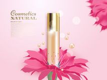 Concealer with flowers Royalty Free Stock Photography