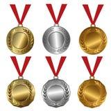 Conceda las medallas oro, los sellos del plata y de bronce o las medallas libre illustration