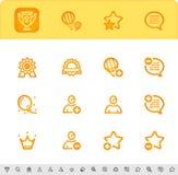 Conceda os primeiros ícones do lugar ajustados Fotografia de Stock