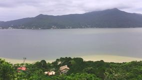 Conceicao lagoon in Florianopolis, Brazil stock video