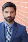 Conceited elegant businessman close up.  stock images