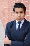 Conceited elegant Hispanic businessman close up.  stock photo