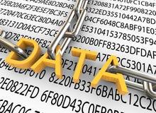 conceito 3d da segurança dos dados ilustração do vetor