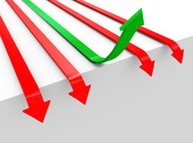 conceito 3d de superar problemas Imagens de Stock Royalty Free