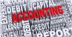 conceito 3d de Tag da palavra da contabilidade Foto de Stock Royalty Free