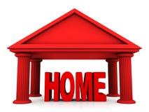Conceito 3d isolado da HOME Fotografia de Stock Royalty Free