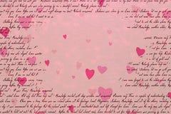 Conceito abstrato cor-de-rosa do fundo do dia do ` s do Valentim ilustração royalty free