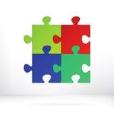 Conceito abstrato da ilustração do enigma. + EPS8 Fotografia de Stock Royalty Free