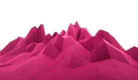 Conceito abstrato da montanha rendido ilustração do vetor