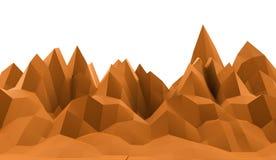 Conceito abstrato da montanha rendido ilustração stock