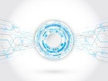 Conceito abstrato da tecnologia de circuito Elementos futuristas do círculo Fotografia de Stock