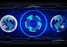 Conceito abstrato da tecnologia do globo Projeto da ilustração Imagens de Stock
